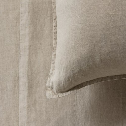 Mondo French Linen Standard Pillowcase Pair in Natural