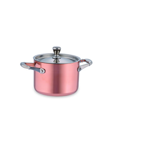 Copper Mini Pot 10cm with Lid