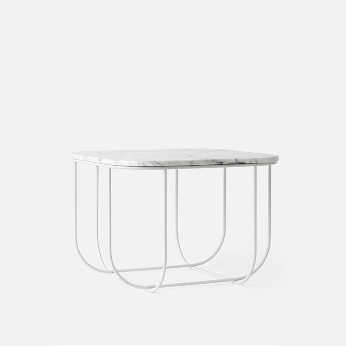 White Marble Cage Table