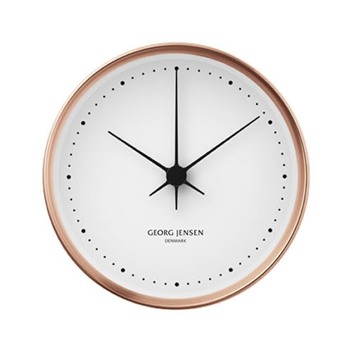 Koppel 22cm Wall Clock in Copper with White Dial
