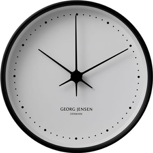 Koppel 15cm Wall Clock in Stainless Steel Black with White Dial