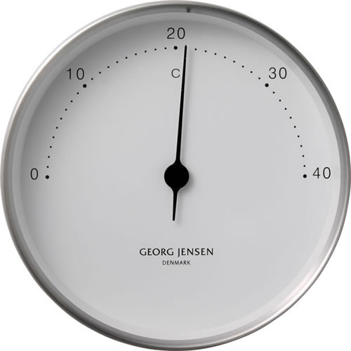 KOPPEL 10cm Thermometer Stainless Steel with White Dial
