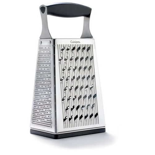 4 Sided Box Grater with Additional Ginger Grater