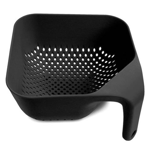 Square Colander Medium in Black