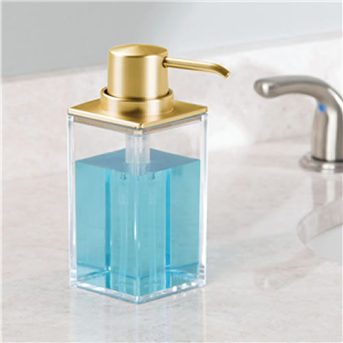 Clarity Soap Dispenser - Brass