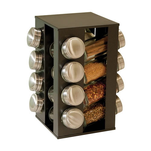 Black 17 Piece Spice Rack