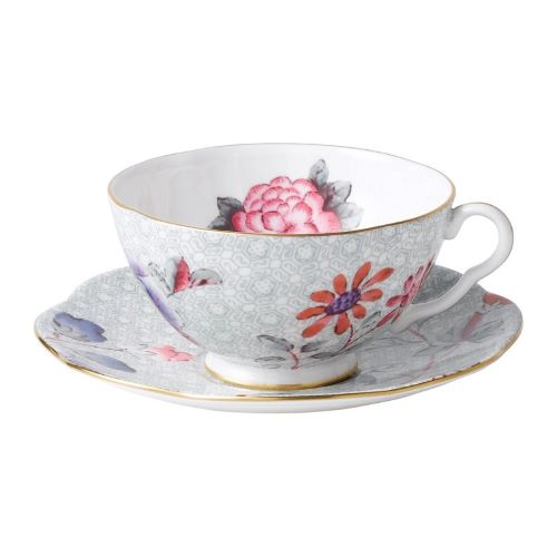 Cuckoo Tea Cup and Saucer in Green