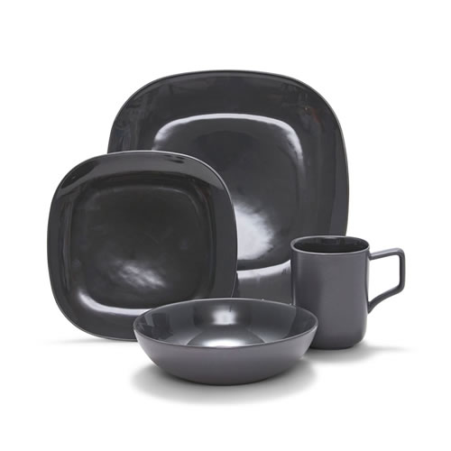 SHADE Dinner Set 16pc Charcoal