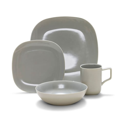 SHADE Dinner Set 16 Piece Grey