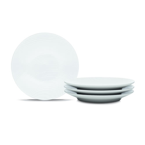 White on White Dune Appetizer Plate