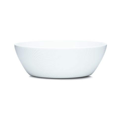 White on White Salad Bowl