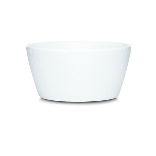 White on White Dune Cereal Plates