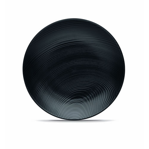 Black on Black Dune Salad Plate Set