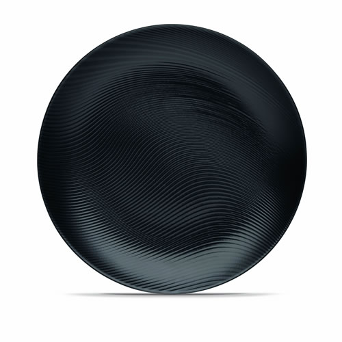Black on Black Dune Dinner Plate Set