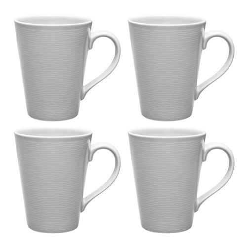 Grey on Grey Swirl Mugs Set
