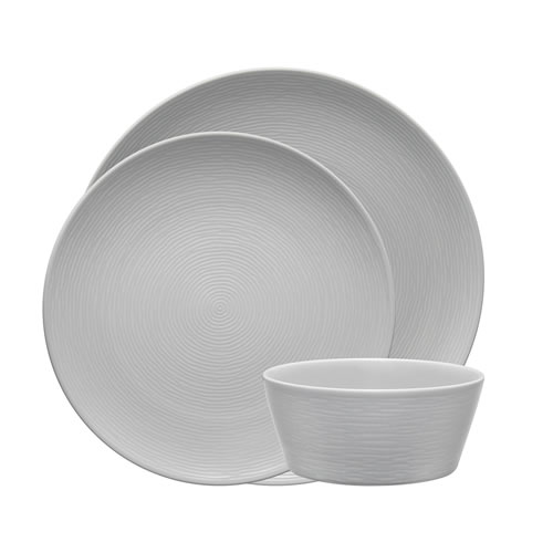 Grey on Grey Swirl 12 piece Dinner set
