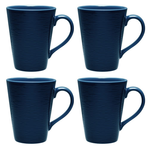 Navy on Navy Swirl Mugs Set