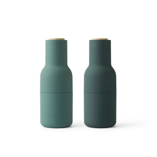 Bottle Grinder Pair in Dark Green