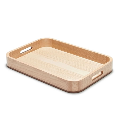 Serving Tray Light Wood 46x32x6cm