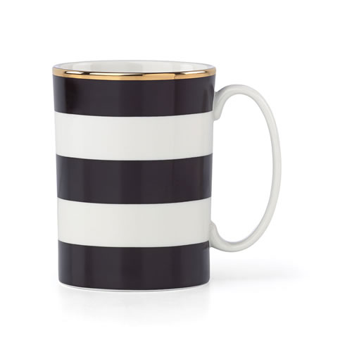 kate spade new york Everdone Lane Black Stripe Mug