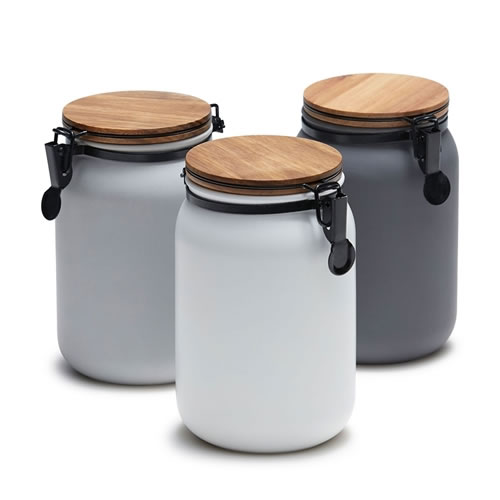 HUDSON Canister in Charcoal, White, Grey