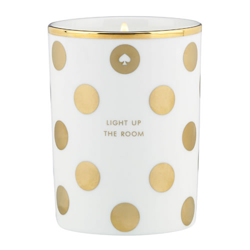 kate spade new york Filled Candle Gold Dot Fig Light Up the Room