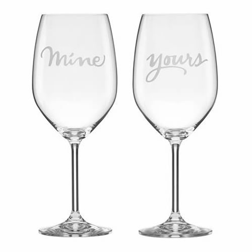 kate spade new york Two of a Kind Mine Yours Wine Pair
