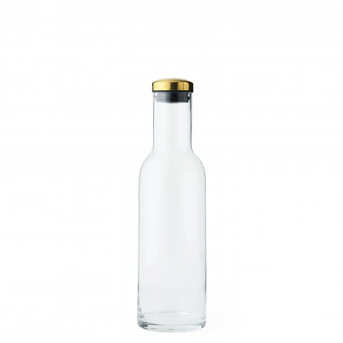 Bottle Carafe 1 L With Brass Lid