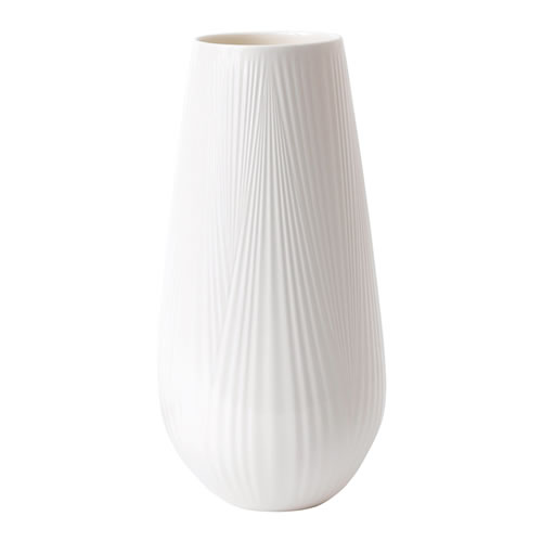 White Folia Tall Vase 30cm