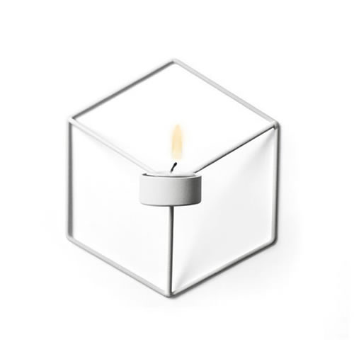 POV Candleholder Wall in White