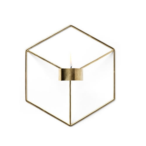 POV Candleholder Wall in Brass