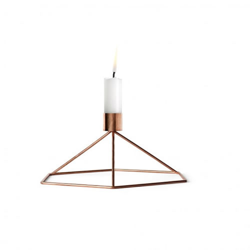 POV Candleholder Table in Copper