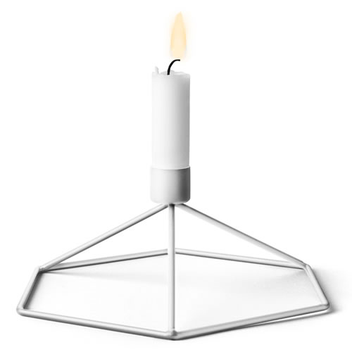 POV Candleholder Table in White