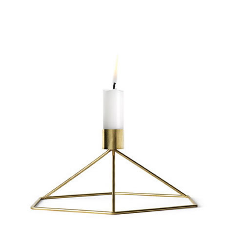 POV Candleholder Table in Brass