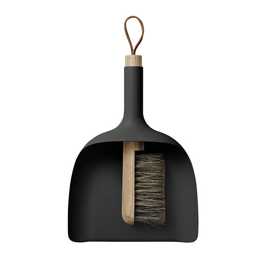Sweeper Dustpan and Broom Black