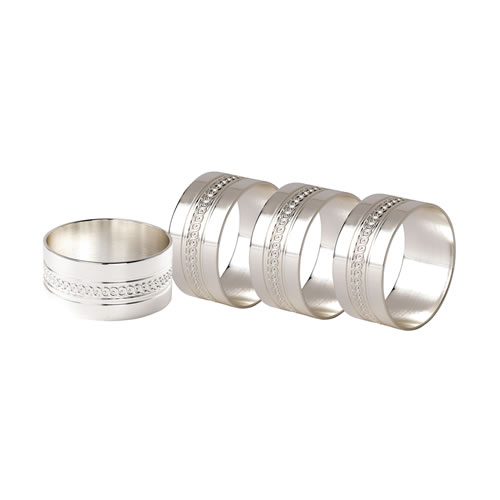 Wedgwood Simply Wish Napkin Rings Set 4
