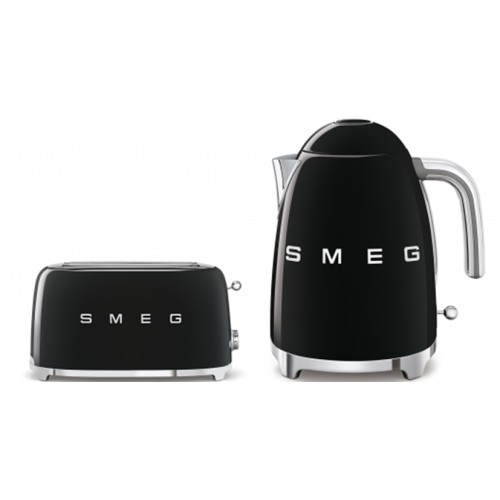 Smeg 50's Style Kettle & 4 Slice Toaster Pack Black