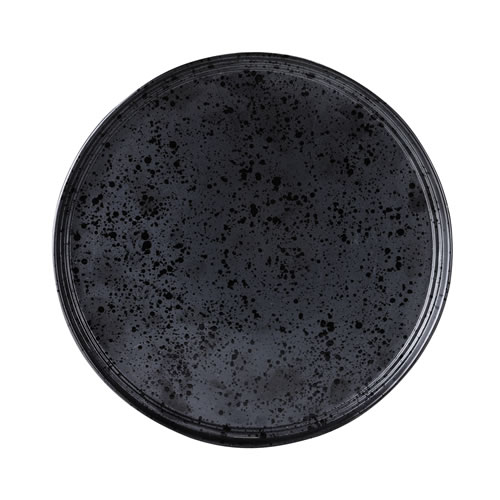 Merchant Charcoal Large Round Plate