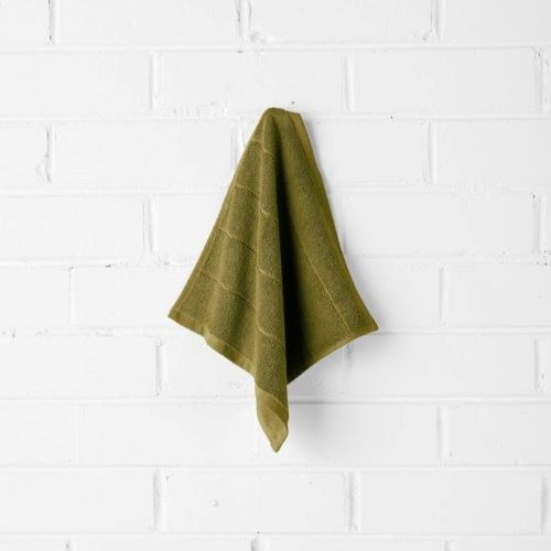 Paros Face Washer in Olive