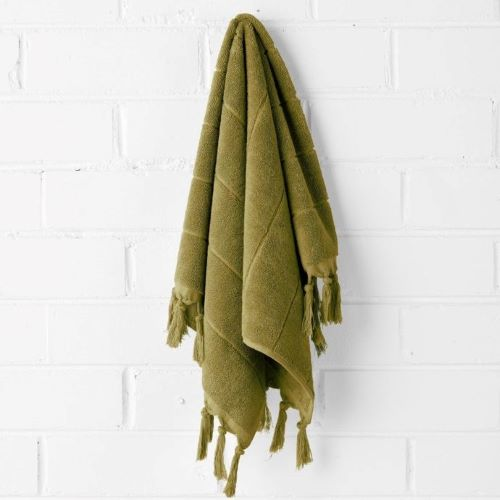 Paros Hand Towel in Olive
