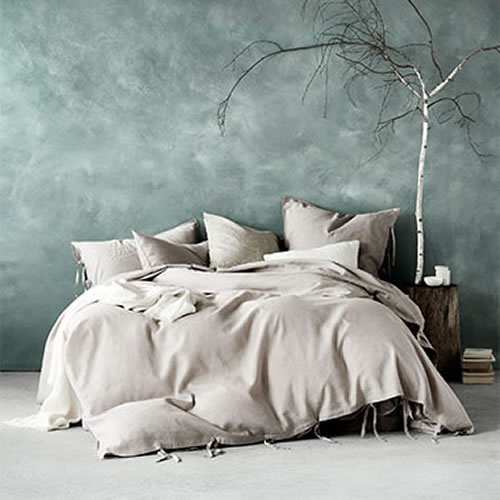 Aura Maison Queen Bed Quilt Cover in Natural