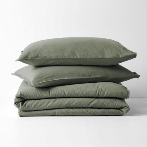 Maison Fringe Single Standard Pillowcase in Clay