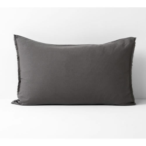 Maison Fringe Single Standard Pillowcase in Flint
