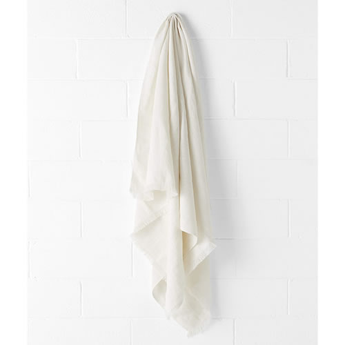 Vintage Marshmellow Linen Throw
