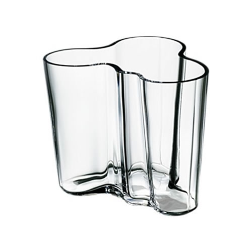 Alvar Aalto Collection Vase 95mm in Clear