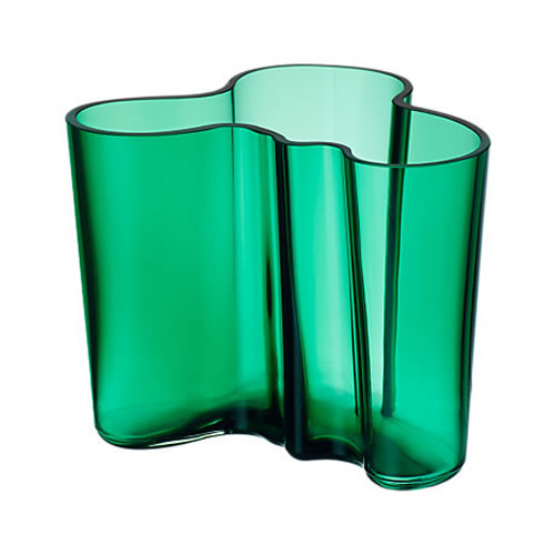 Alvar Aalto Collection Vase 120mm in Emerald