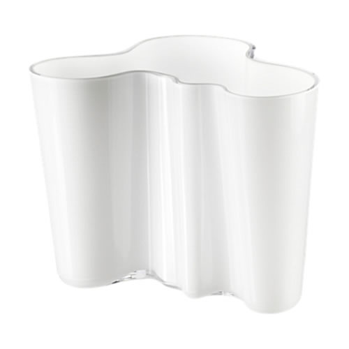 Alvar Aalto Collection Vase 160mm in Opal White