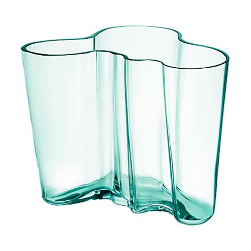 Alvar Aalto Collection Vase 160 mm in Water Green