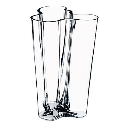 Alvar Aalto Collection Vase 201 mm in Clear