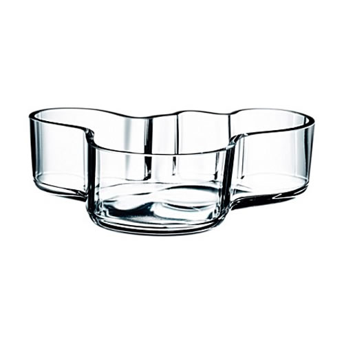 Alvar Aalto Bowl in Clear 195x50mm
